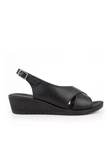 Muya Vienza Anatomik Kadın Sandalet Siyah